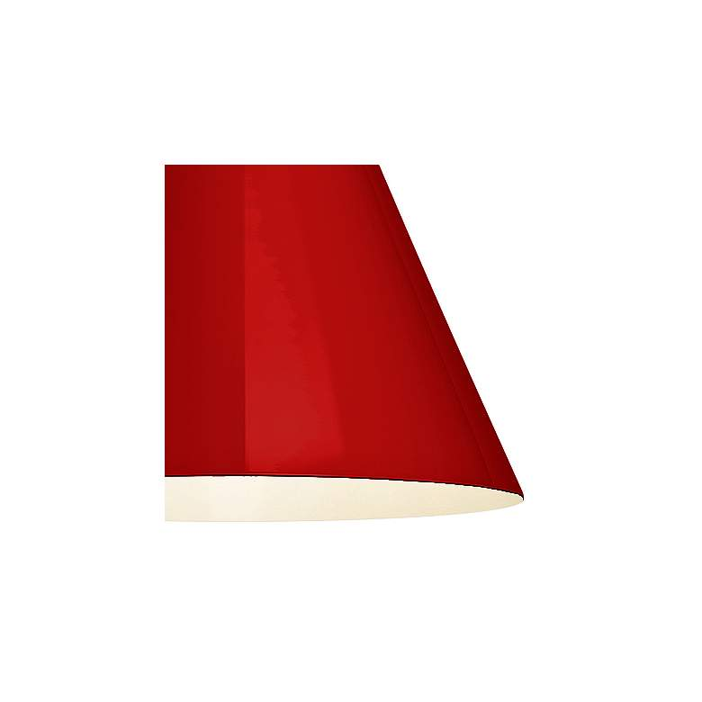 "RLM Mid-Century 15 1/4""H White and Red Outdoor Hanging Light more views"