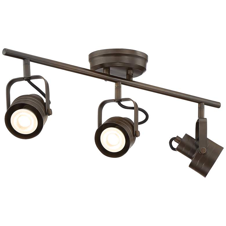 Pro Track Kato 3-Light Painted Bronze LED Track Fixture more views