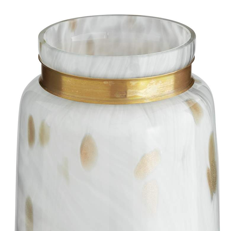 "Chelsie 16 1/2"" High White and Gold Jar more views"