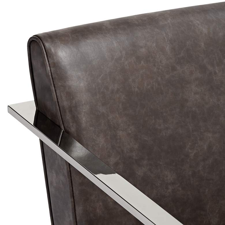 Fairmont Brown Faux Leather Accent Chair more views