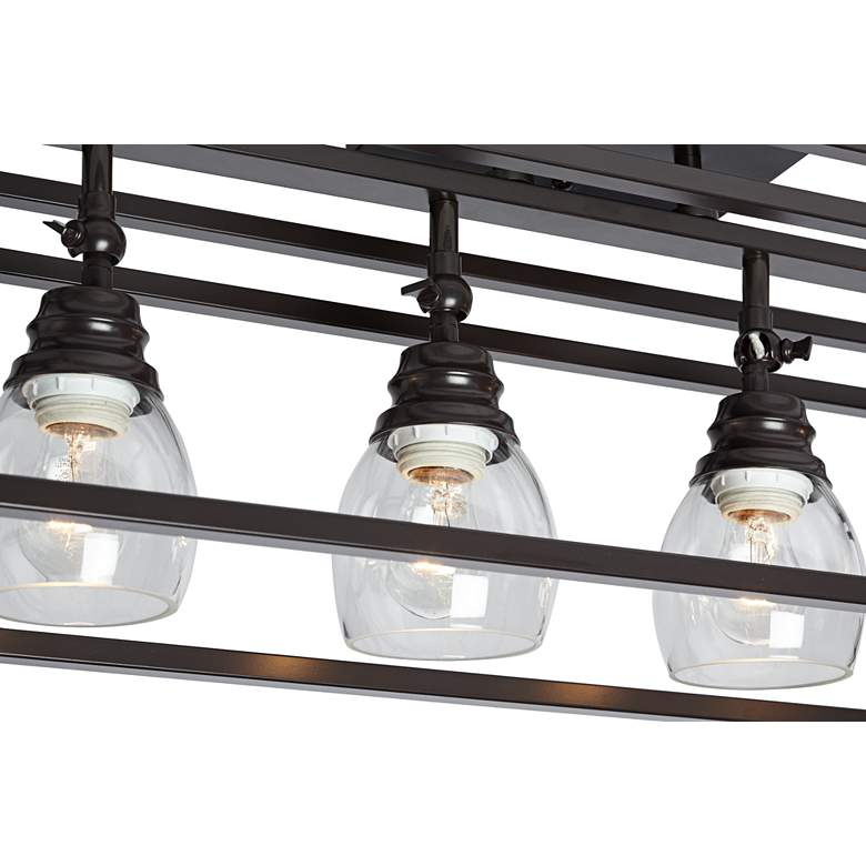Pro Track Brennan 4-Light Bronze Cage Track Fixture more views