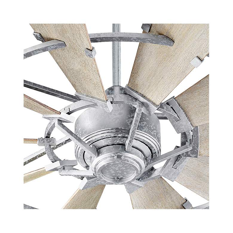 "52"" Quorum Windmill Galvanized Ceiling Fan more views"