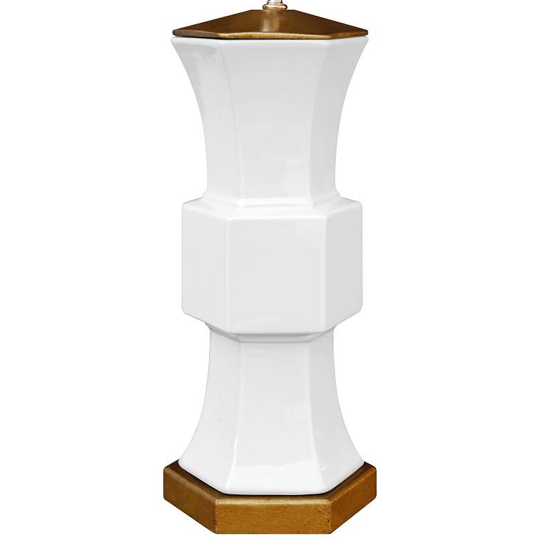 Francis White Porcelain Hexagonal Vase Table Lamp more views