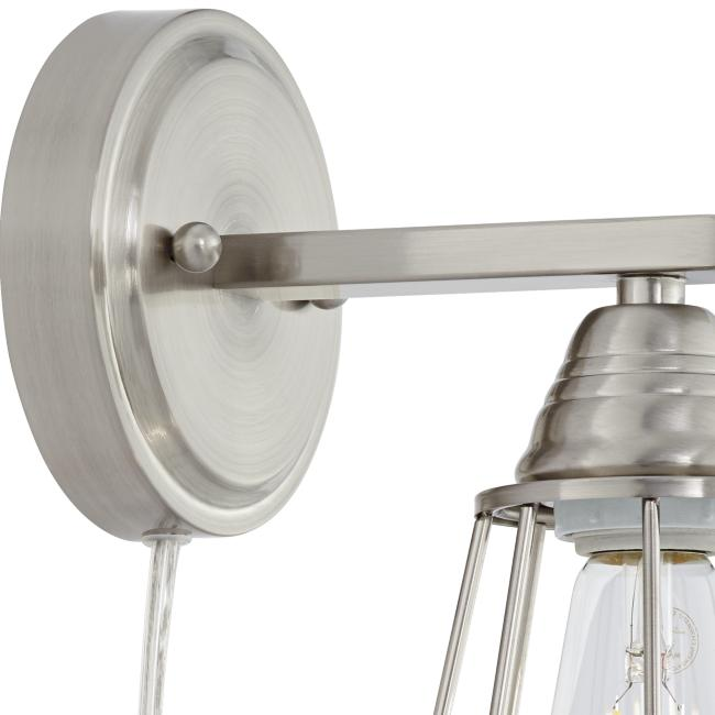 Adelaide Brushed Nickel Cage Pin-Up Wall Lamp