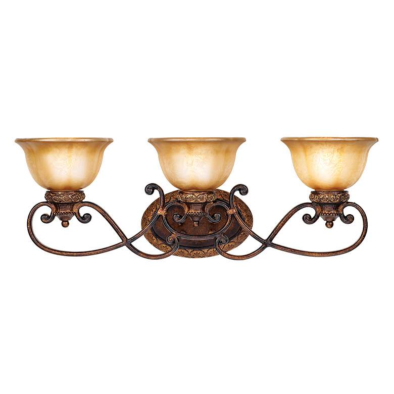 "Illuminati Collection 31"" Wide Bronze Bathroom Light Fixture more views"
