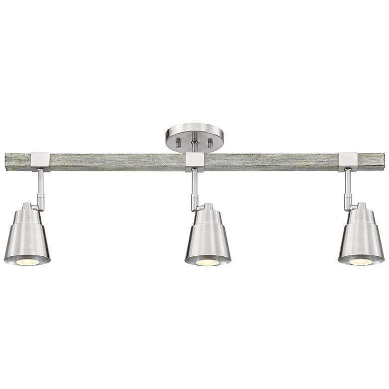 Pro Track Copalis 3-Light Nickel and Wood Track Fixture more views