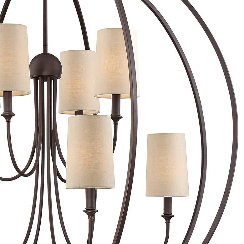 "Crystorama Sylvan 40""W Dark Bronze 8-Light Orb Chandelier more views"