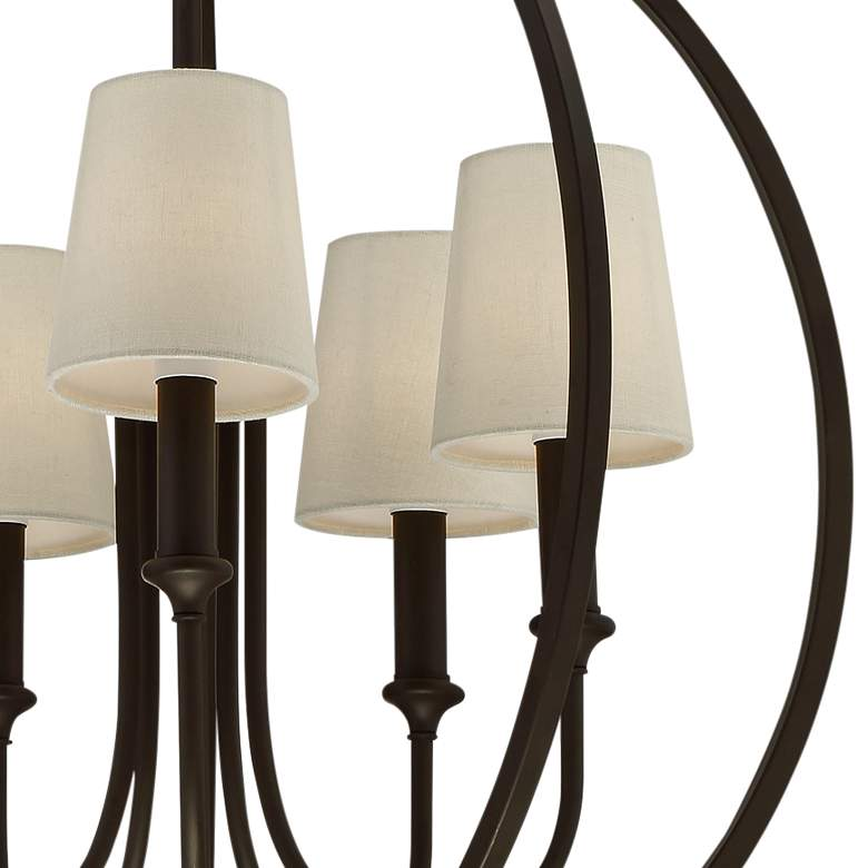 "Crystorama Sylvan 22 1/2""W Dark Bronze 5-Light Chandelier more views"