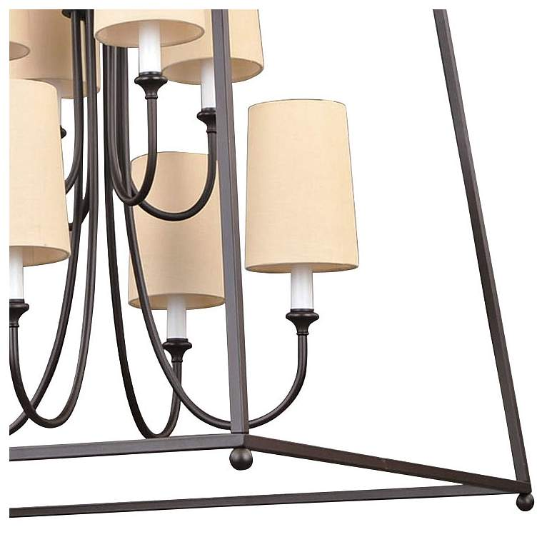 "Crystorama Sylvan 27 1/2""W Dark Bronze 8-Light Chandelier more views"