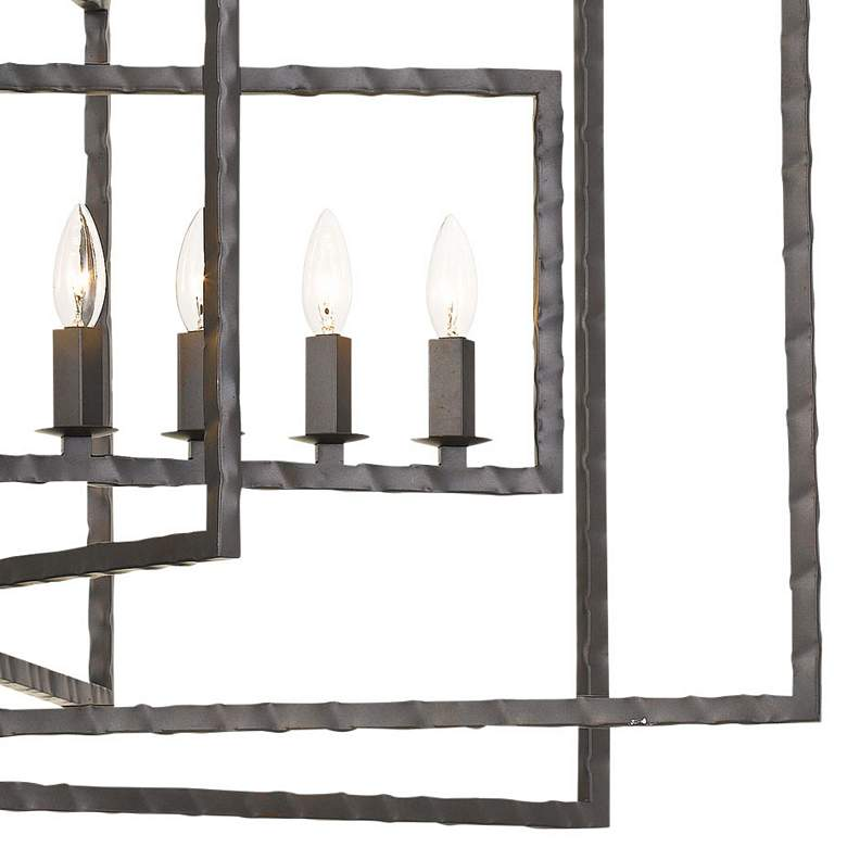 "Crystorama Capri 39"" Wide Raw Steel 9-Light Pendant more views"