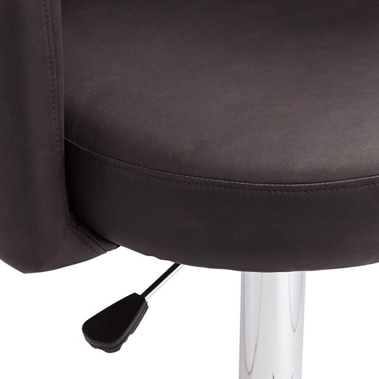 Triton Brown Faux Leather Swivel Adjustable Bar Stool more views