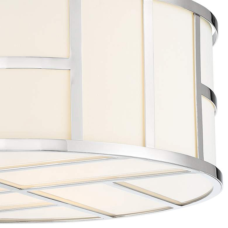 "Crystorama Danielson 16 1/2""W Polished Nickel Ceiling Light more views"