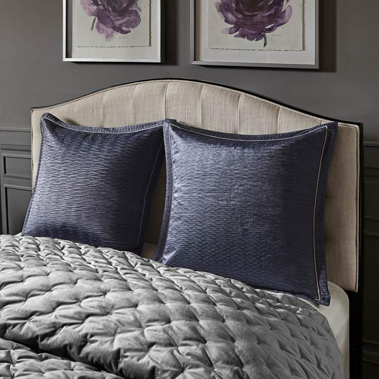 Sophisticate Gray Velvet 8-Piece Queen Comforter Set more views