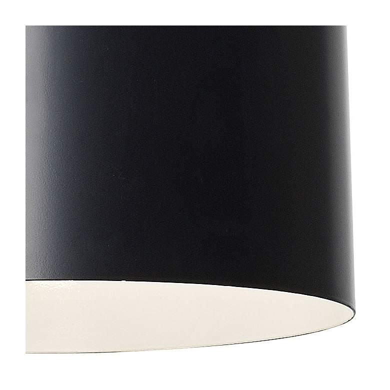 "Crystorama Alston 12"" Wide Matte Black Mini Pendant more views"