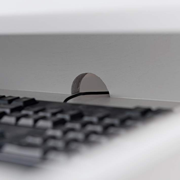 Leick 48 Wide White Wood 1 Drawer Corner Computer Desk 62y25 Lamps Plus