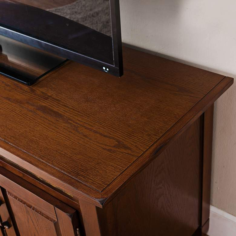 "Rustic Autumn 60"" Wide TV Media Console with Slate Tiles more views"
