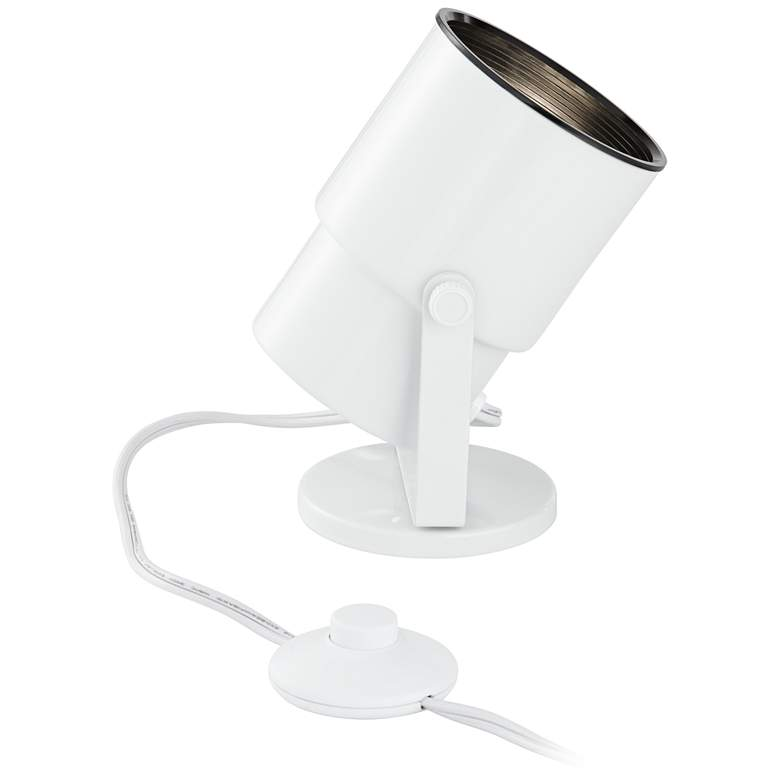 Cord-n-Plug White Accent Uplight with Foot Switch more views