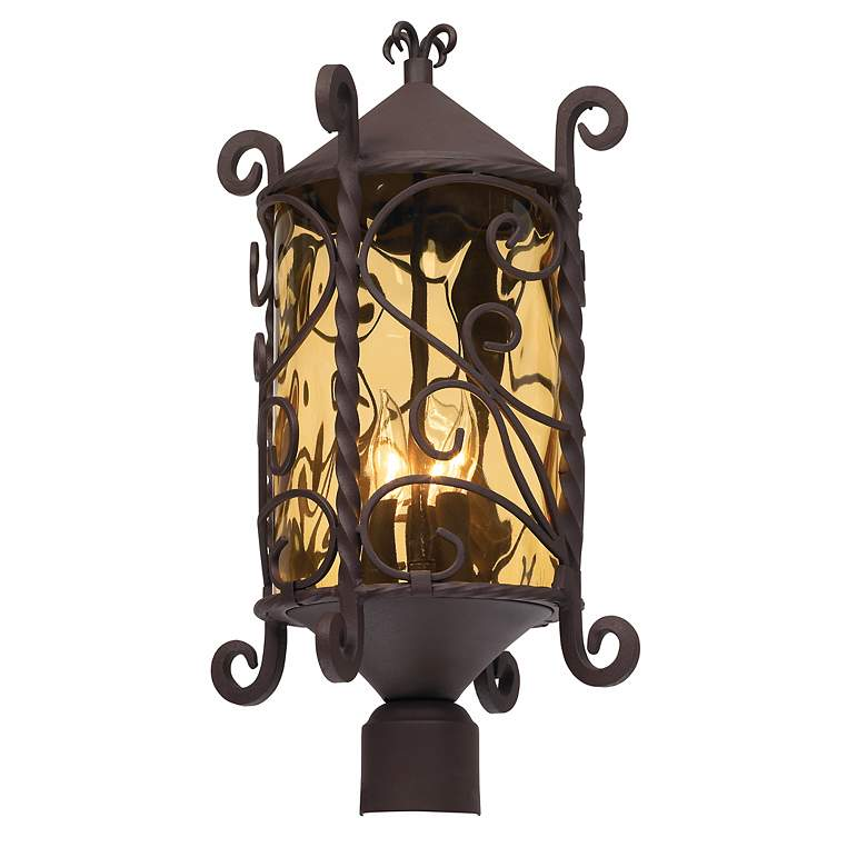 "Casa Seville 23 1/2"" High Iron Scroll Outdoor Post Light more views"