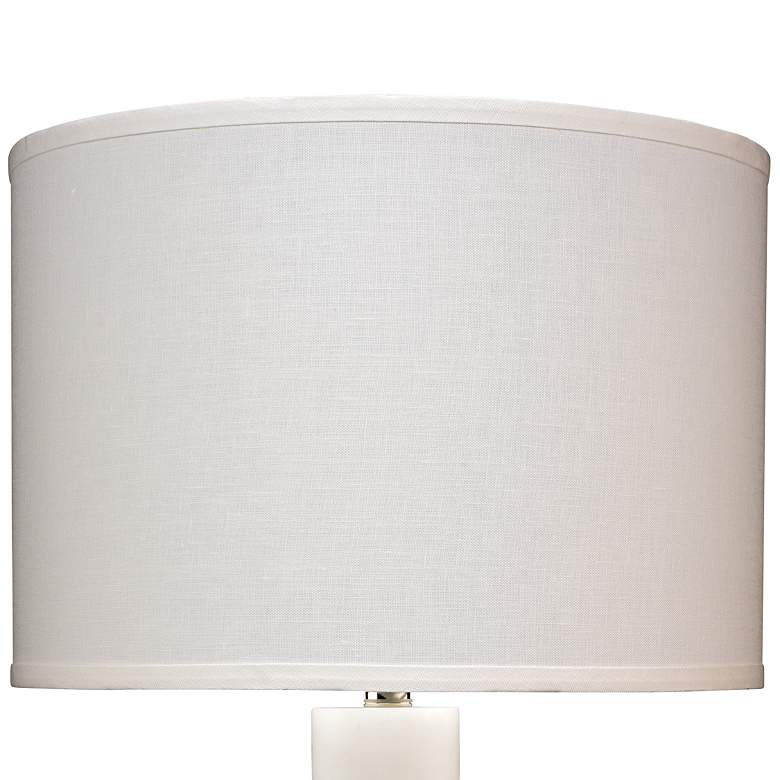 Jamie Young Caspian White Stacked Alabaster Table Lamp more views