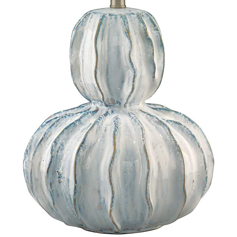 Jamie Young Oceane White Ceramic Gourd Table Lamp more views