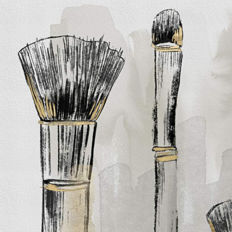 "Brushes 20"" High Rectangular Giclee Canvas Wall Art more views"