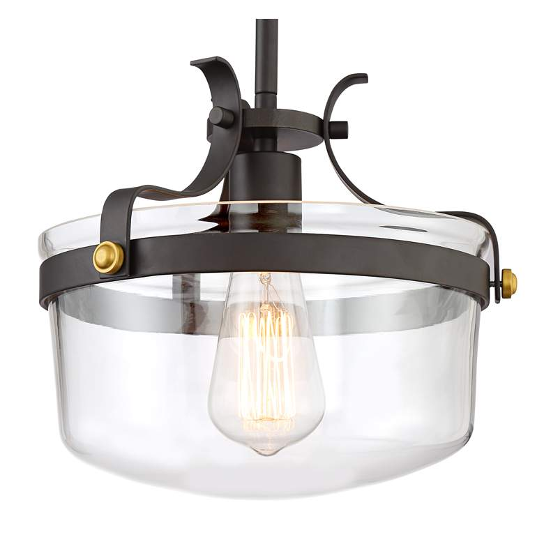 "Cami 10 1/4"" Wide Bronze Mini Pendant Light more views"