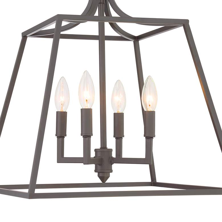 "Meli 16"" Wide Bronze 4-Light Entry Pendant Light more views"