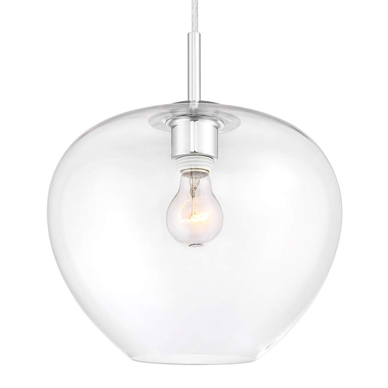 "Teresita 11 1/2"" Wide Chrome and Glass Mini Pendant Light more views"