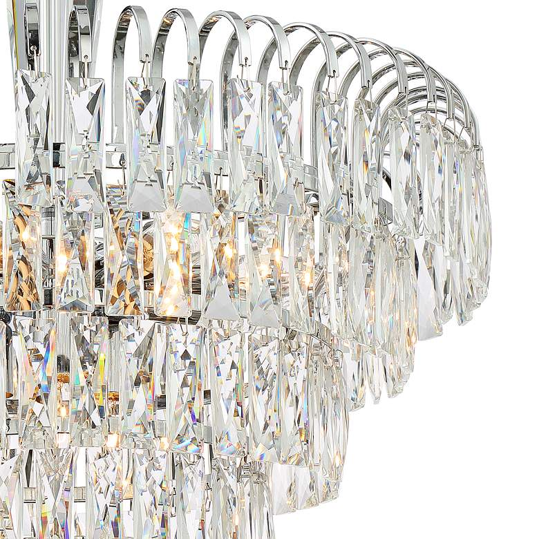 "Claudine 21 1/2"" Wide 11-Light Crystal Chandelier more views"