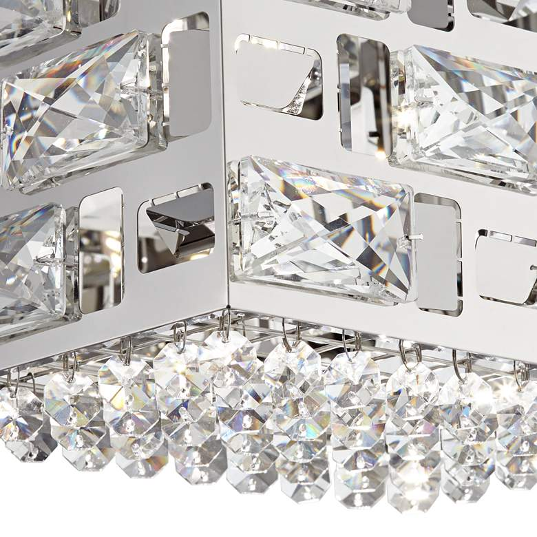 "Possini Euro Crystal Rain 8"" High Chrome LED Wall Sconce more views"