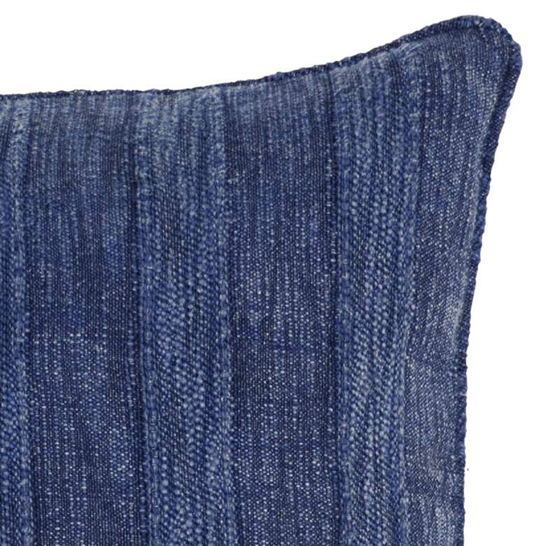 "Heirloom Linen Indigo 22"" Square Decorative Pillow more views"