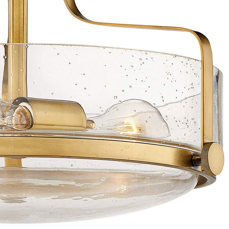 "Hinkley Harper 14 1/2""W Heritage Brass 3-Light Ceiling Light more views"