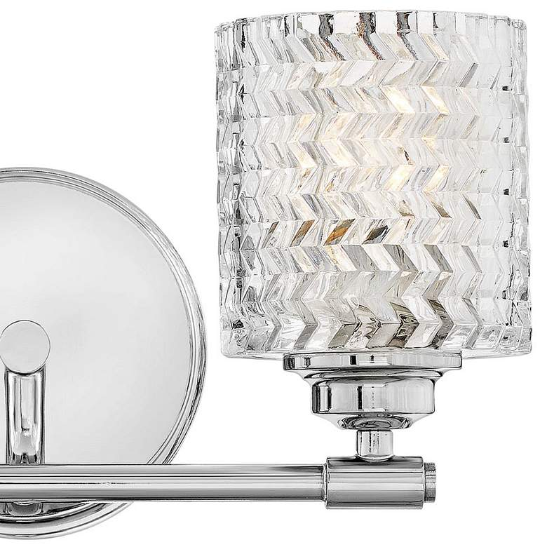 "Hinkley Elle 7 1/2""H Chrome and Glass 2-Light Wall Sconce more views"