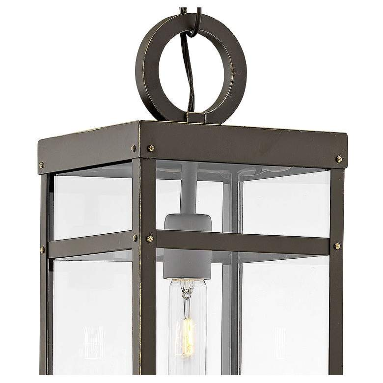 "Hinkley Porter 19""H Oil-Rubbed Bronze Outdoor Hanging Light more views"