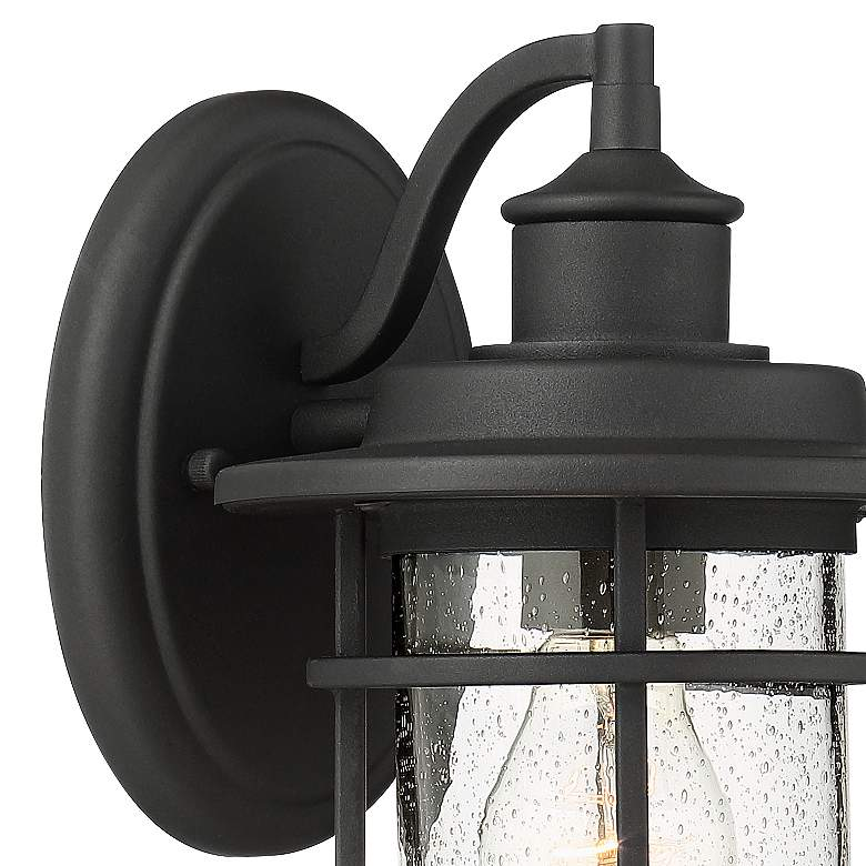 "Markham 10 1/2""H Textured Black Outdoor Wall Lights Set of 2 more views"