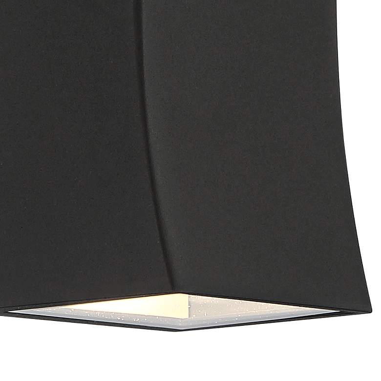 "Fusion 8""H Textured Black LED Up and Down Outdoor Wall Light more views"
