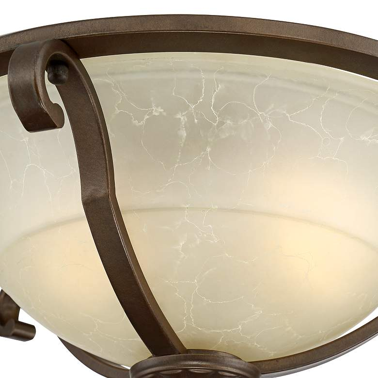 "Fitzgerald 16 3/4"" Wide Heritage Bronze Bowl Ceiling Light more views"