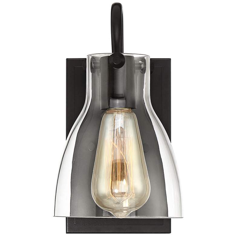 "Cyn 10"" High Bronze and Clear Glass Wall Sconce more views"