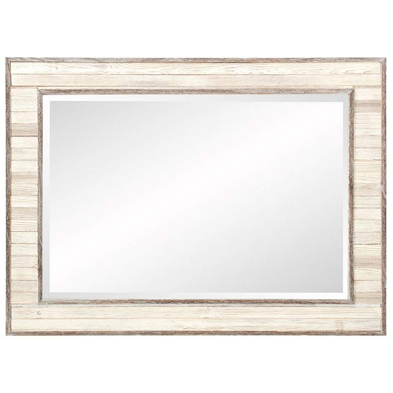 "Howard Elliott Sawyer Wood Plank 31 1/2"" x 43"" Wall Mirror more views"