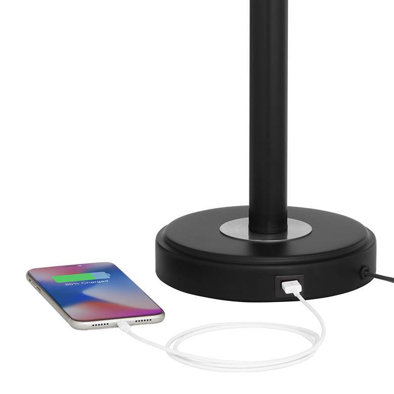 Kevin Black Metal USB Accent Table Lamps Set of 2 more views