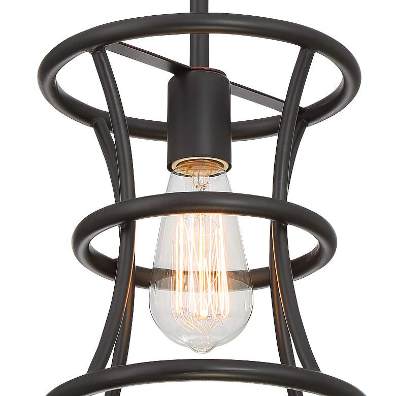 "Felix 8"" Wide Oiled-Rubbed Bronze Mini Pendant Light more views"
