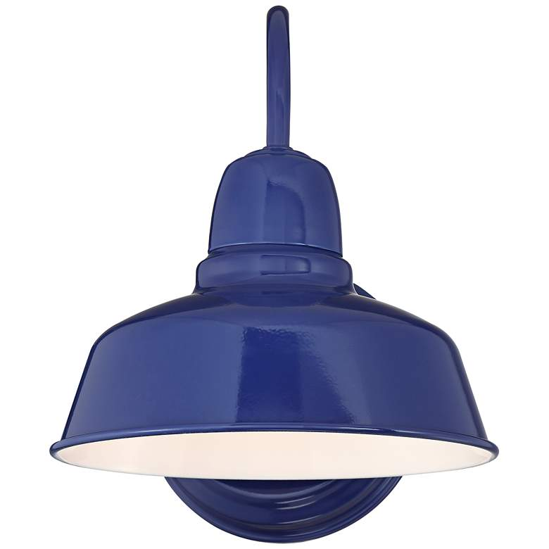 "Urban Barn 11 1/4"" High Blue Indoor-Outdoor Wall Light more views"