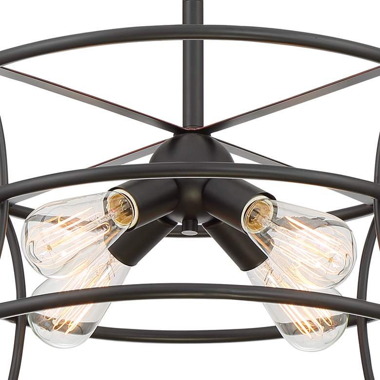 "Felix 20"" Wide Oil-Rubbed Bronze 4-Light Pendant Light more views"