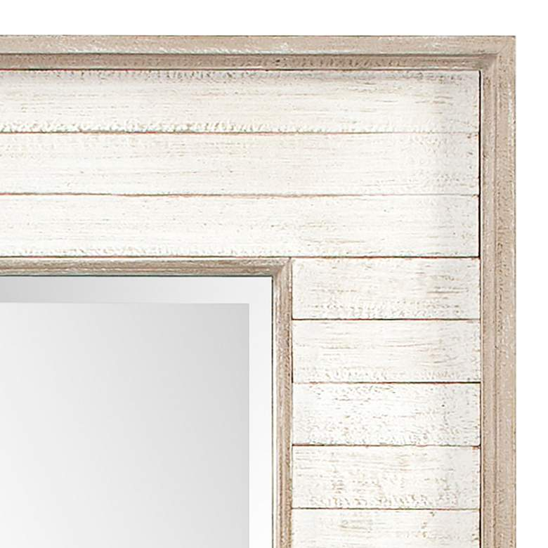 "Howard Elliott Abbey Rustic White Wash 23"" x 47"" Wall Mirror more views"