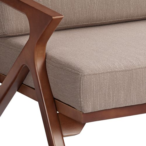 "Moderno 43 1/2"" Wide Walnut Finish Modern Settee"