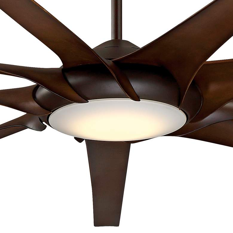 "99"" Minka Aire Ninety Nine Oil-Rubbed Bronze LED Ceiling Fan more views"