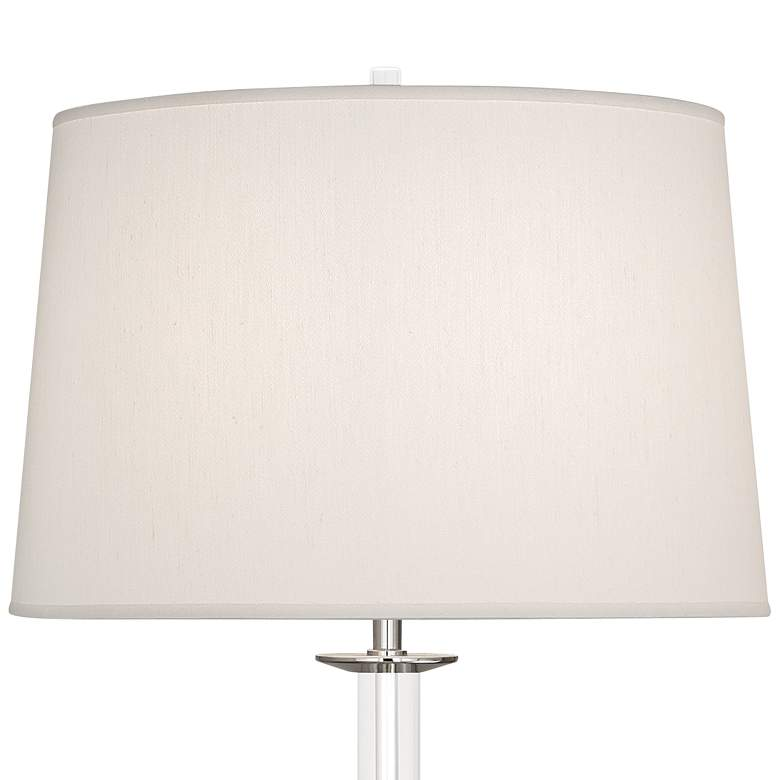 Atticus Polished Nickel w/ Swirled Bubble Glass Table Lamp more views