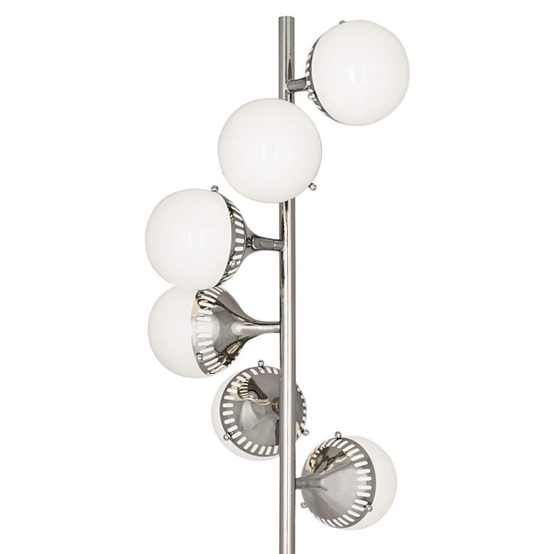 Jonathan Adler Rio Polished Nickel 6-Light Floor Lamp more views