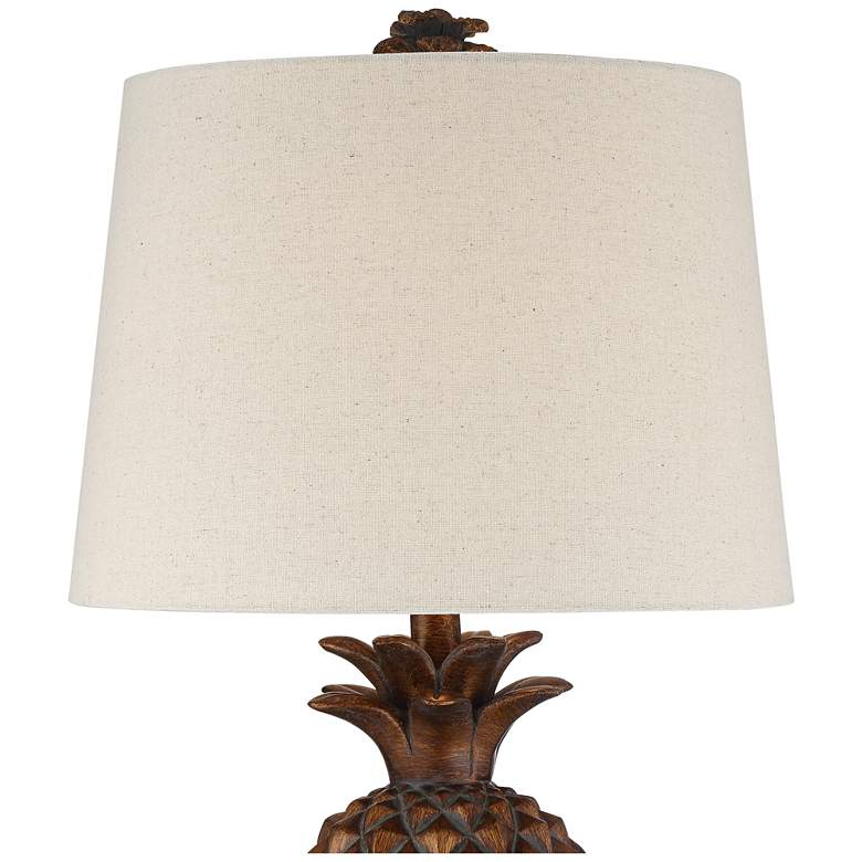 Paget Brown Pineapple Accent Table Lamp more views