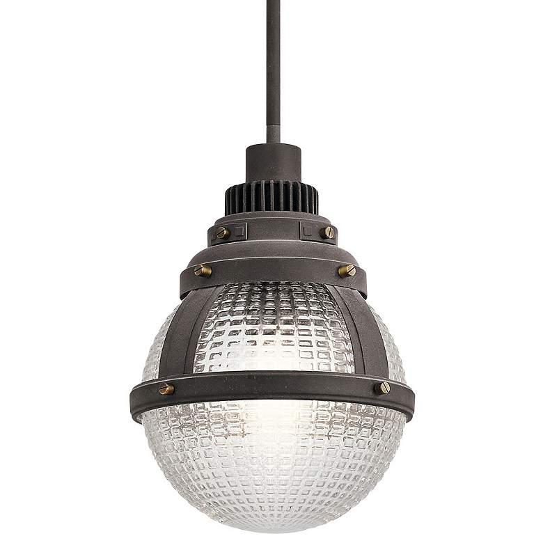 "Kichler Gavin 10"" Wide Weathered Zinc Mini Pendant more views"